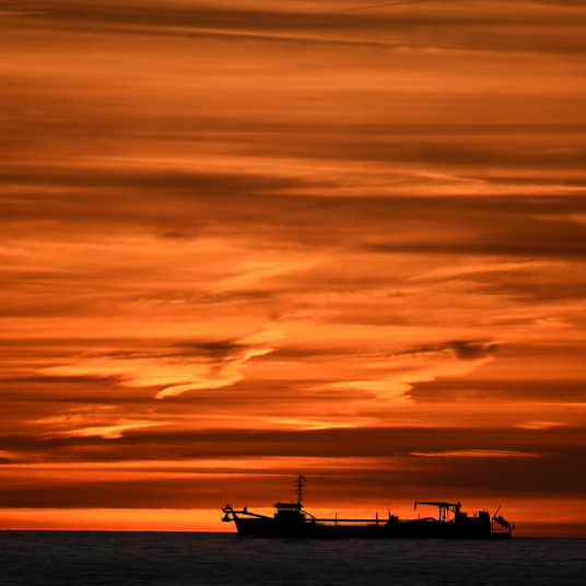 Sunset Dredger